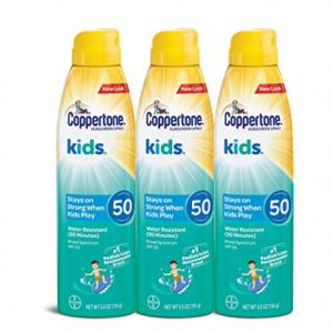 Coppertone 水宝宝儿童防晒喷雾 SPF 50 @ Amazon