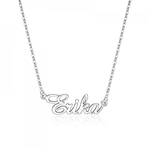 IEFLIFE Custom Name Necklace Personalized now 50.0% off , 14K Gold Plated Personalized Name Neckla..