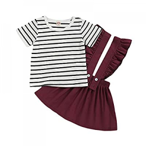 Toddler Girl Dresses Overall Suspender Skirt Set Cotton Outfits Girl Jumpsuit+Strap Skirt Outfits ..