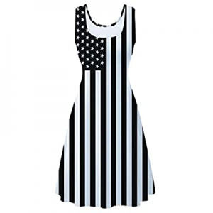 One Day Only!uideazone Women's Sleeveless Scoop Neck Summer Beach Casual Midi A Line Dress now 72...