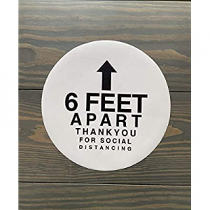 One Day Only!20.0% off Social Distancing Floor Decals   Pack of 5 Commercial Floor Stickers   12 I..