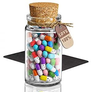 One Day Only!50.0% off Capsule Letters Message in a Bottle Glass - Cute Love Capsule Pills - Gifts..