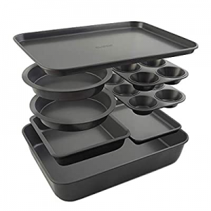 Elbee Home 8-Piece Stack 'n' Store Baking Set now 15.0% off , Patented Space Saving Self Storage D..