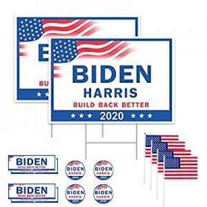 "30.0% off GameXcel 18"" x 26"" Large Biden Harris Yard Sign 2020 - Build Back Better Biden for Presi.."