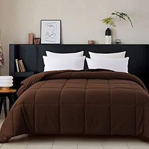 Cosybay Twin Comforter Chocolate now 60.0% off , Down Alternative Bed Comforter, Lightweight Duvet..