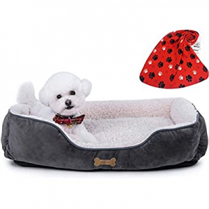Allisandro Dog Bed   Super Soft Sherpa Dog Crate Bed   Removable Shell and Machine Washable Dog Sl..