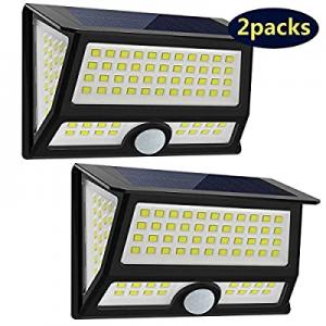 CREATIVE DESIGN Solar Lights Outdoor now 40.0% off , 102 LED Solar Motion Light Wall Light Solar G..
