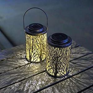 Hanging Solar Lights Outdoor - Solar Lanterns Garden Solar Patio Table Lamps Decorative SUNWIND 2 ..