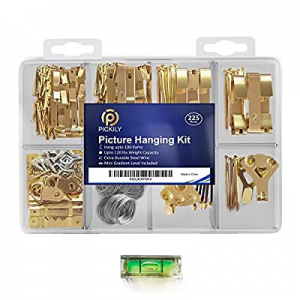 Pickily Premium 225 Piece Picture Hanging Kit now 15.0% off , Assorted Picture Hangers Includes Na..