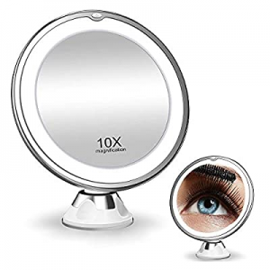 Bling Makeup Vanity Mirror 10x Magnifyingwith led Lights - 360 Rotation with Adjustable Angles and..