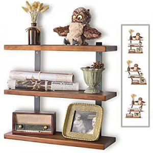 JS HOME Floating Shelves Mount Wall now 35.0% off , Adjustable Angle Wall Shelves, 16.9 Inches Han..