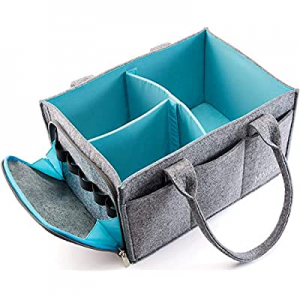 One Day Only!10.0% off Premium Baby Diaper Caddy Organizer   Portable Nursery Storage Bin   Planne..