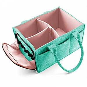 One Day Only!10.0% off Mollieollie Premium Baby Diaper Caddy Organizer   Portable Nursery Storage ..