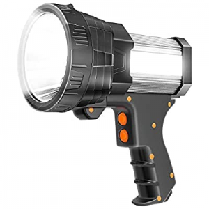 40.0% off Super Bright Spotlight 6000 Lumen LED Flashlight Handheld Rechargeable Spot light 9600mA..