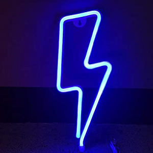 Pasyru Neon Light now 50.0% off , Neon Light Neon Signs Lights, Battery and USB Operated Blue Ligh..