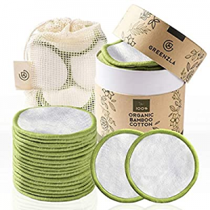 25.0% off Greenzla Reusable Makeup Remover Pads (20 Pack) With Washable Laundry Bag And Round Box ..