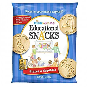 Educational Snacks I States & Capitals Featuring 50 States I Alaska to Wyoming (30) 1oz Bags | Swe..