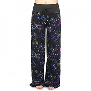 45.0% off Buttery Soft Pajama Pants for Women – Floral Print Drawstring Casual Palazzo Lounge Pant..