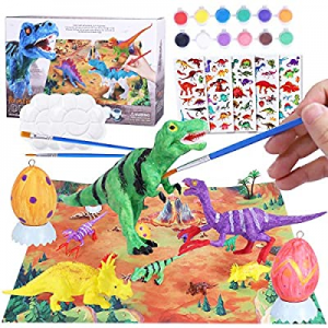 50.0% off Max Fun 28PCS Dinosaur Painting Kit with Play Mat Egg 3D DIY Art Dinosaur Handcraft Set ..