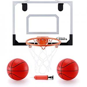 "20.0% off KeepRunning Indoor Mini Basketball Hoop and Balls 16"" x 12"" - Basketball Hoop Set for Do.."