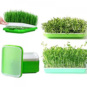 Seed Sprouter Tray now 40.0% off , 5 Pack BPA Free Double Layer Nursery Tray Seed Germination Tray..