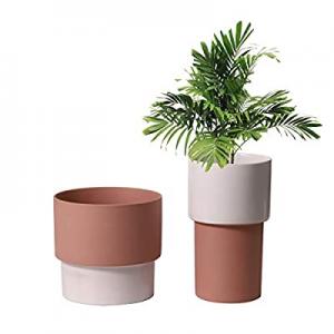 One Day Only!UBEE Ceramic Planter Flower Garden Pot for Plant Pot Home Decor Bedroom Bathroom Deco..