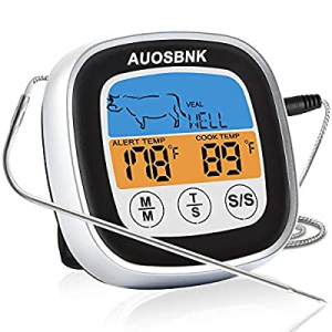One Day Only!Instant Read Meat Thermometer  now 50.0% off ,Touchscreen Color LCD Display Food Ther..