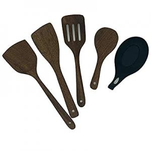 One Day Only!Wooden Spatulas Set - Arditto Kitchen Utensils Set Non-stick Pan Kitchen Tool Wooden ..