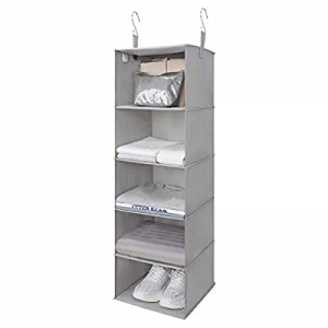 One Day Only!GRANNY SAYS 5-Shelf Hanging Closet Organizer now 40.0% off , Hanging Shelves for Clos..