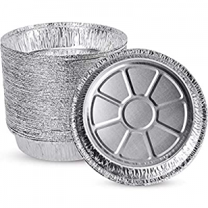"""(50 Pack)Party XIAFEI Disposable 9"""" Aluminum Round Foil Pans now 15.0% off , Homemade Cakes & Qui.."""