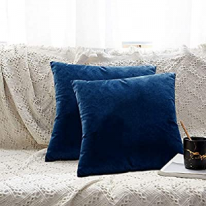 Sue&Joe Pack of 2 now 55.0% off , Velvet Soft Throw Pillow Covers Decorative Square Cushion Covers..