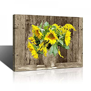 50.0% off Rustic Bathroom Decor for the Home Country Wall Art for Bedroom Sunflower Themed Farmhou..