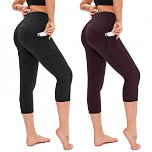 60.0% off Opuntia Yoga Pants for Women with Pockets - 2 Pack High Waist Tummy Control Softy 4 Way ..