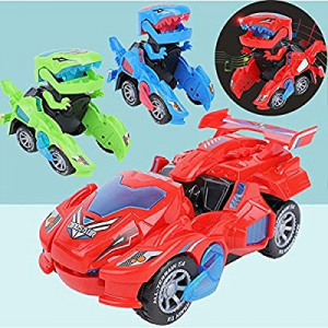 Transforming Dinosaur Toys now 50.0% off , Automatic Transforming Dinosaur Car with Lights & Sound..