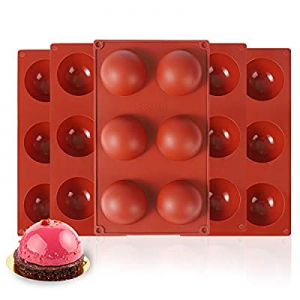 VOSIGREEN 5 Pack Large 6 Holes Semi Sphere Silicone Mold now 65.0% off , BPA Free Half Round Shape..