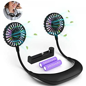 RIYA Neck Fan now 30.0% off , Personal Fan USB Rechargeable Battery Operated Fan, Wearable Neckban..