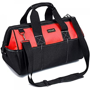 HUIJIA 13-inch Tool Organizer Bags Wide Mouth Waterproof Heavy Duty Tool Bag with Water Proof Mold..