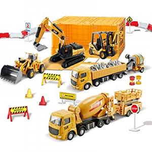 Construction Vehicles Truck Toy Set now 60.0% off , Kids Alloy Excavator Engineering Vehicle Sets,..