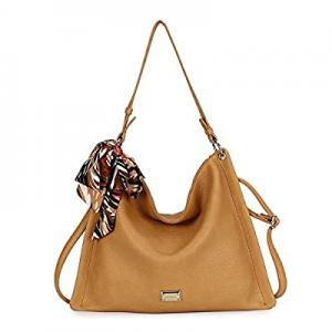50.0% off Hobo Bag for Women Soft Faux Leather Shoulder Bags Crossbody Handbags Casual Satchel Sho..