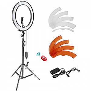 Neewer 18-inch SMD LED Ring Light Dimmable Lighting Kit with 78.7-inch Light Stand now 46.0% off ,..