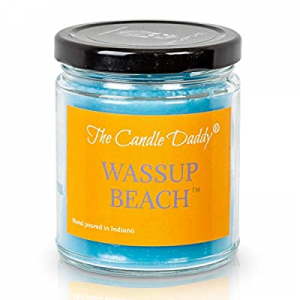Wassup Beach- Funny Beach Ocean Scented 6 oz Candle- Hand Poured in Indiana now 30.0% off