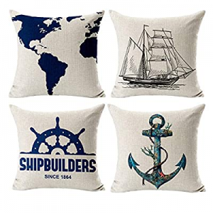 50.0% off Eitchen Throw Pillow Covers Linen Cushion Covers Square Decorative Pillowcases for Sofa ..
