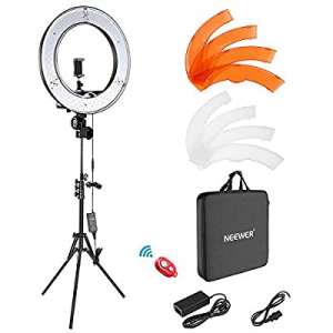 """Neewer Ring Light Kit:18""""/48cm Outer 55W 5500K Dimmable LED Ring Light now 65.0% off , Light Stand.."""