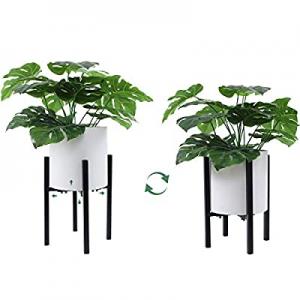 Indoor Plant Stand Adjustable Metal Flower Pot Stand - Mid-Century Modern Plant Stand Display Stan..