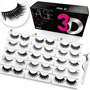 Eliace lashes 5 Styles 15 Pairs Silk Mink Lashes Kit now 16.0% off , Eye Makeup Tools   Full Fluff..