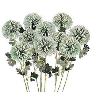 One Day Only!40.0% off Artificial Flowers Large Chrysanthemum Ball Silk Hydrangea Flowers Bouquet ..