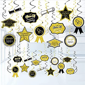 One Day Only!72pcs Graduation 2021 Decorations Hanging Ceiling Decor now 40.0% off , Graduation Gi..