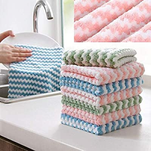 One Day Only!Astuafia 10 Pack Dish Towels now 50.0% off , 10x10 Super Absorbent Kitchen Towels, No..