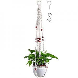 """One Day Only!Venupple Macrame Plant Hanger now 51.0% off , 35"""" Hanging Plant Holder Made of Natura.."""