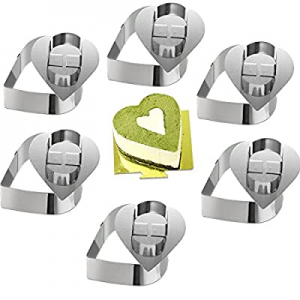 ONEDONE Cake Molds Stainless Steel Cake Rings Cake Mousse Mold with Pusher now 70.0% off ,3.15in D..
